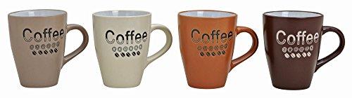Kaffeetassen 11cm, Ø8cm, 250ml, 4er Set   Tassen, 4 Stück mit