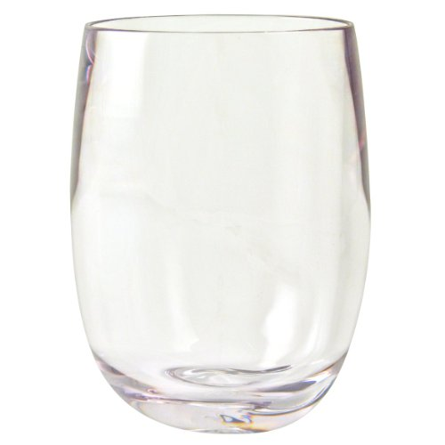 Strahl Design+Contemporary Osteria 13-Ounce Stemless Wine Glass, Set of - Glass Polycarbonate Or