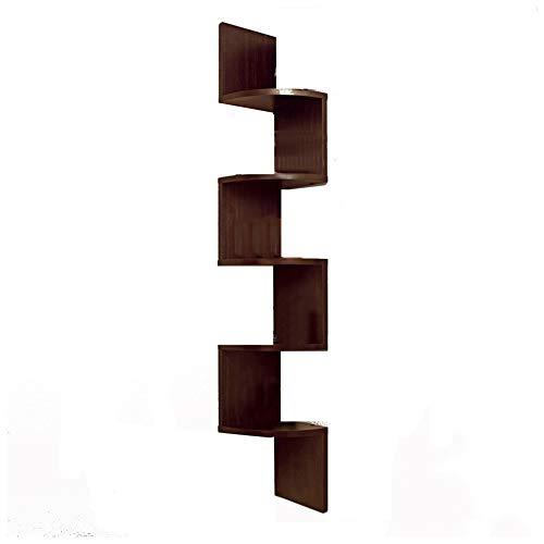 Leaning Shelf Flower Picture Vase Bookshelf Shelves Tier Versatile Ladder Storage ()