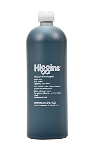 Higgins Black India Pigmented Drawing Ink, 32 Ounce Bottle (44204) by Higgins (Image #2)