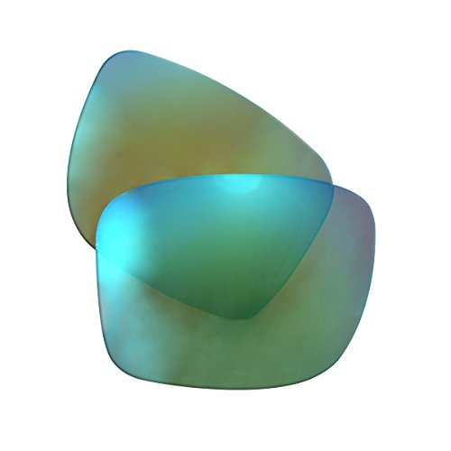 LenzFlip Polarized Replacement Lenses for Oakley GASCAN - Multiple Options (Brown Polarized with Green Mirror) - Green Polarized Replacement Lenses