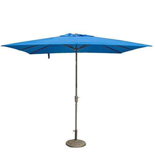 CASUN GARDEN 7x9 ft Patio Rectangular Market Umbrella with Crank and Tilt, Blue