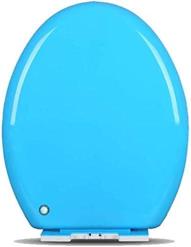 YLSP ユニバーサルトイレカバーO/V/U防腐カラークイックリリースソフトオフ便座ヒンジ遅いです (Color : Blue, Size : O-shaped)