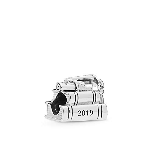 PANDORA Cap, Book and Scroll Graduation 2019 College School 925 Sterling Silver Charm - 798034