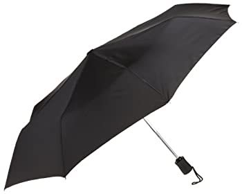Lewis N. Clark Compact & Lightweight Travel Umbrella Opens & Closes Automatically, Black, One Size 0