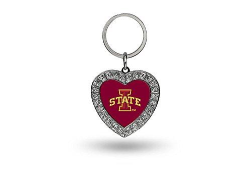 Rico NCAA Iowa State Cyclones Rhinestone Heart Keychain