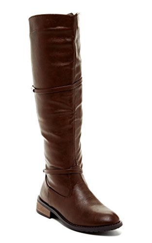 Bucco Hidegard Womens Fashion Strappy Heeled Boots Brown aBgmt4xOsh