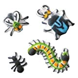 Bug Assortment Edible Sugar Decorations for Cake and Cupcakes 24 count