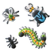 Bug Assortment Edible Sugar Decorations for Cake and Cupcakes 24 count - Bugs Birthday Cake