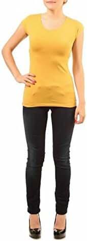 Modbod Modest Layering Scoop Neck Cap Sleeve Shirt - Extra Length
