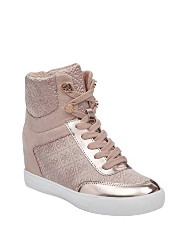 Guess Leather Platforms - GUESS Women's Daylana Logo High-Top Wedge Sneakers