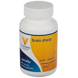 The Vitamin Shoppe Brain Sharp with AcetylLCarnitine, Phosphatidylserine B Vitamins for Memory, Focus, Energy Production (90 Capsules)