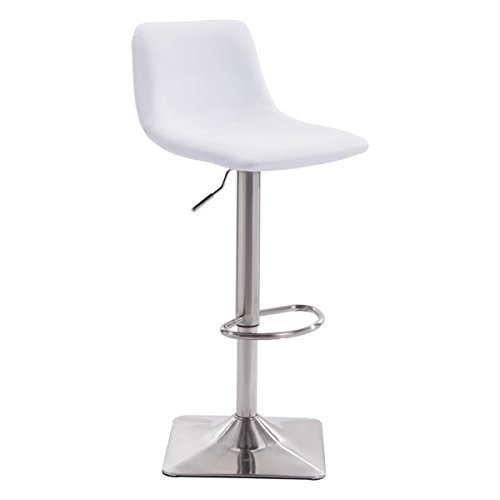 Zuo Cougar Bar Chair, White