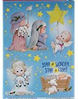 Christmas Nativity Window Clings ~ Glitter Angels and Nativity Decoration by Morehead
