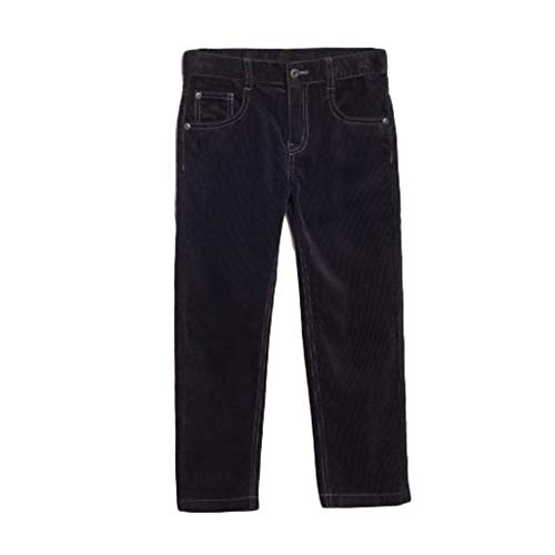 bossini Reliable Winter Boys Solid Color Slim Fit Corduroy Daily Pants 150,US Size 14 - Grey