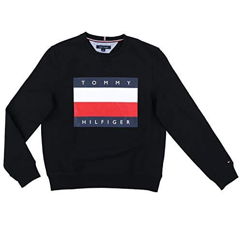 Tommy Hilfiger Mens Logo Sweatshirt (X-Large, Black) ()