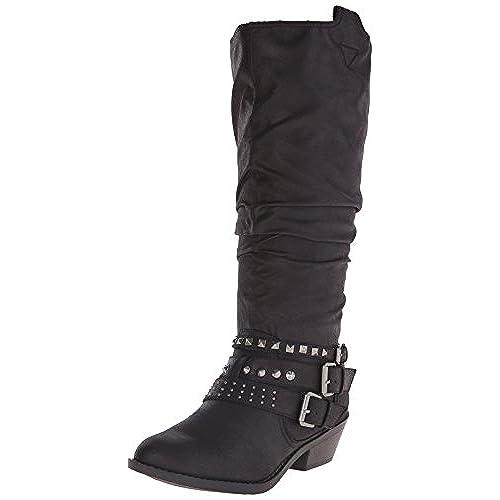 Report Women's Kathye Western Boot, Black, 6 M US