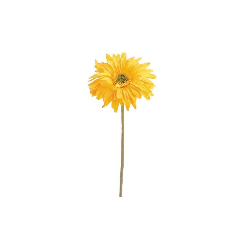 """silk flower arrangements 29"""" gerbera daisy spray yellow (pack of 12)"""