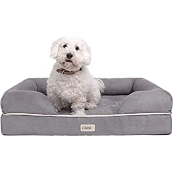 Friends Forever Orthopedic Dog Bed Lounge Sofa Removable Cover 100% Suede 2