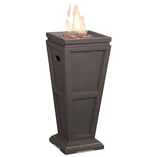 (Endless Summer GLT1332B LP Gas Outdoor Fireplace, Brown Firepit)