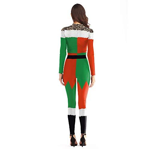 Pezzo Digitale Di Babbo Stampa 3d Donna Un Moda Vestito Natale Rosso Da xXfSwR8q8