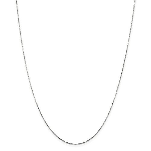 14k White Gold .80mm Sparkle-Cut Cable Chain Necklace - 26 Inch