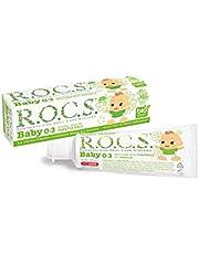 R.O.C.S. Baby 0-3 Yaş Paptya Özlü Florürsüz Bebek Diş Macunu 1 Paket