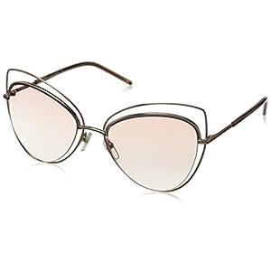 Marc Jacobs Women's Marc8s Cateye Sunglasses, Gold Copper/Pink Beige, 56 mm
