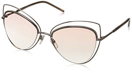 Marc Jacobs Women's Marc8s Cateye Sunglasses, Gold Copper/Pink Beige, 56 - Marc Jacobs Sunglasses