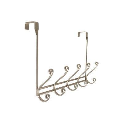 Richards Homewares Modena Over the Door 5 Hook Rack Color: Satin Nickel (Accents Tone Nickel)