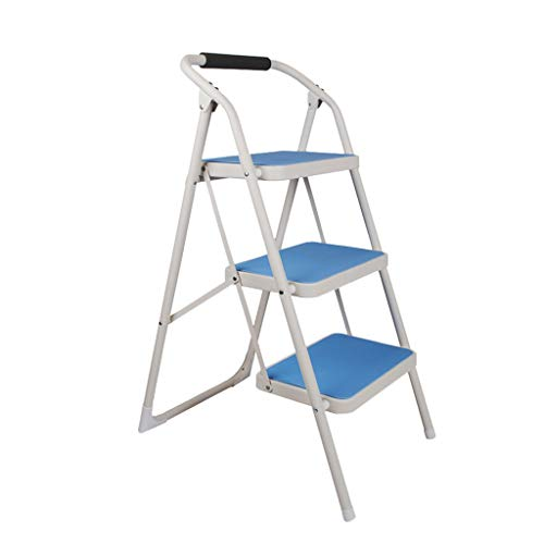 (Nevy- Household Multifunction Ladder Stool Indoor Fold Step Ladder Thicken Mobile)