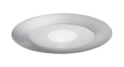 Juno Lighting Group 212N-SC Frosted Lens with Clear Center Shower 5-Inch Recessed Trim, Satin Chrome Finish