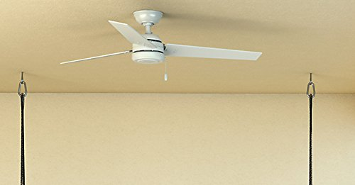 """Hunter Contemporary Cassius Matte Silver Ceiling Fan, 52"""" 9 WhisperWind motor delivers ultra powerful air movement with whisper quiet performance so you get the cooling power you want without the noise you don't Reversible motor allows you to change the direction of your fan from downdraft mode during the summer to updraft mode during the winter 13 degree blade pitch optimized to ensure ideal air movement and peak performance"""