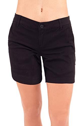 Bebop Women's Casual Shorts, Stretch Cotton Twill (13, Black (Bermuda)) ()