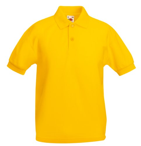Fruit of the Loom Kids 65/35 Piqué-Polo Sonnenblume 12-13 Yrs