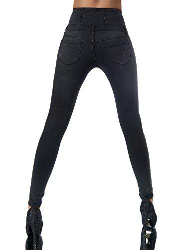 Negro jeans Básico Mujer Skinny Diva Vaqueros Para qzvcY