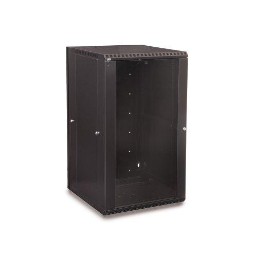 (22U LINIER Swing-Out Wall Mount Cabinet - Glass Door)