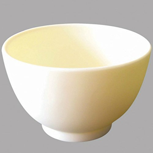 Facial Mask Bowl - Ultra Durable White Rubber Silicone Mixing Bowl for Masks, Liquids, Creams etc. - Use at Home, Spa or Clinic - Hygienic Beauty Tool with Good Surface Grip - Non-Odor and Dishwasher Safe, (SIZE M) - Gold Cosmetics Supplies