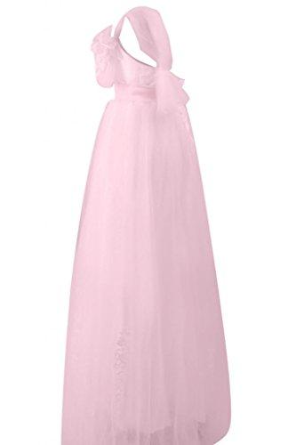 Sunvary Robe Longue Robe de Soir¨¦e Robe de Bal Robe de Demoiselle d'Honneur de A-Ligne Spaghetti Straps en Tulle, Dentelle, Satin avec Appliques