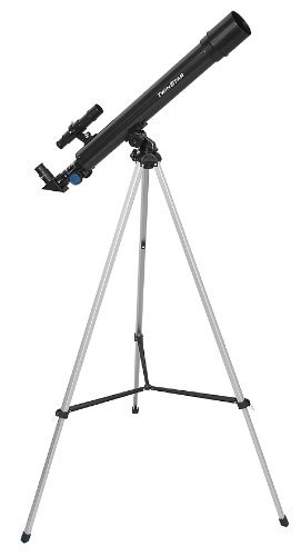 Black TwinStar AstroMark 50mm 75x Power Refractor Telescope