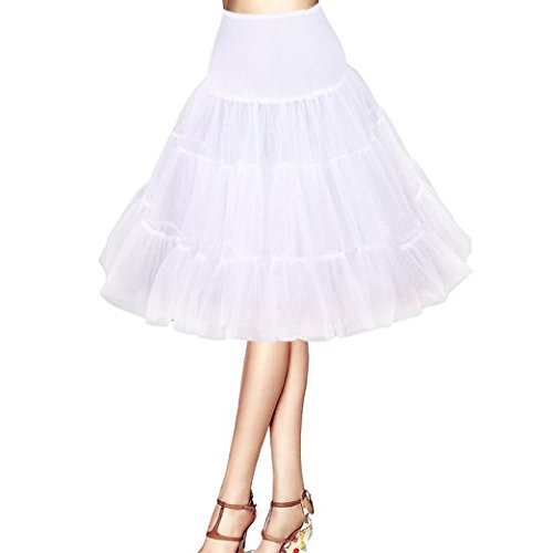 Bianco Boolavard /® 50s 26 Retro Sottogonna Vintage Petticoat Fancy Net Gonna Rockabilly Tutu