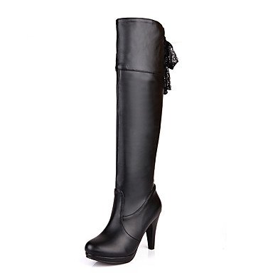 The Leatherette Boots Black Fashion 8 Tassel For Casual 10 EU41 Boots UK7 Chunky S CN42 Winter RTRY Heel Toe Shoes 5 Brown Round US9 Over Women'S Boots Knee Dress 5 wq1I7E