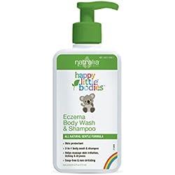 Natralia Happy Little Bodies Eczema Body Wash & Shampoo, 6 Fluid Ounce