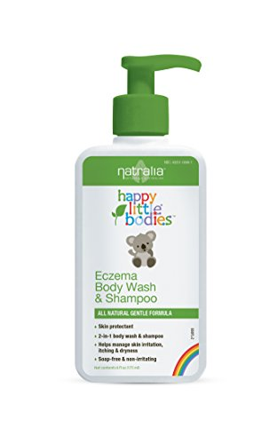 Natralia Happy Little Bodies, Eczema Body Wash & Shampoo 7.2 Ounce, Children's Formula, Soap-Free Bathing (Best Shampoo For Eczema Child)