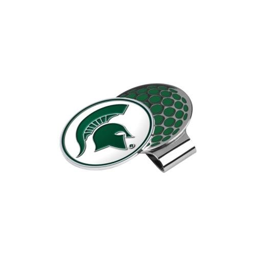 LinksWalker NCAA Michigan State Spartans Golf Hat Clip with Ball ()