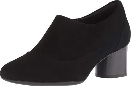 CLARKS Womens Un Cosmo Zip Black Suede Pump - 8.5 (Boston Accent Boots)