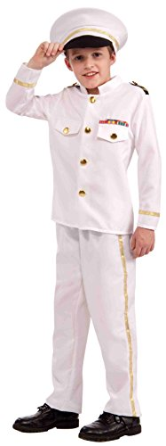 [Forum Novelties Navy Admiral Child Costume, Medium] (Ship Captain Costumes)
