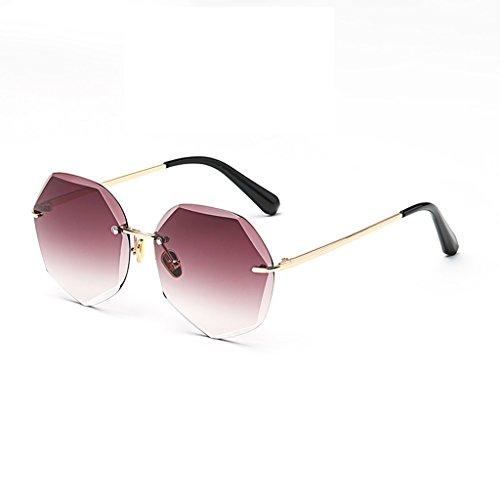 de Color Gafas Vino Marco Sol de Moolo del poligonales Sol tinto Cambio Gafas Tendencia Pink la Gradual Femenina sin de Gafas FwT5qxO
