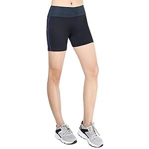 Flatik Women's Yoga Running Short Exercise Workout Shorts