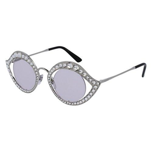 Sunglasses Gucci GG 0046 S- 002 SILVER / PINK